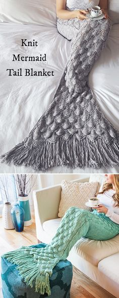 Mermaid blankets that are as witty as they are warm. Cozy, soft, and fun to lounge in. Get your own mermaid tail and keep cozy.