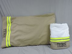 Firefighter Personalized Pillowcase and Bath towel Set FFGS003