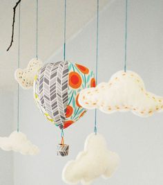 Hot Air Balloon Mobile | Baby Mobile | Hot Air Balloon Crib Mobile | DIY Nursery from @Jo-Ann Fabric and Craft Stores