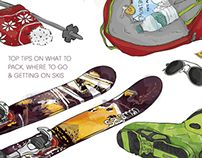 Ski illustration by Tamalia - Illustration by Tamalia - Des Art Studies, Educational Activities, My Drawings, Illustration, Skiing, Skateboard, Behance, Diy Projects, Cartoon