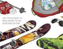 Ski illustration by Tamalia