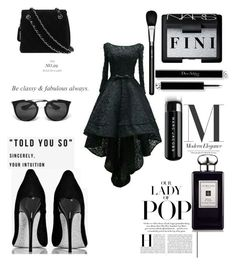 """""""The lady of Pop"""" by fini-i ❤ liked on Polyvore featuring Chanel, NARS Cosmetics, MAC Cosmetics, Marc Jacobs, Prada and Jo Malone"""