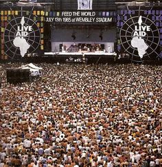 Live Aid, 13 July 1985 Benefiting those in need in Africa Great Memories, Childhood Memories, Stadium Live, Concert Stage, Rock Concert, Live Aid, George Michael, Freddie Mercury, Listening To Music