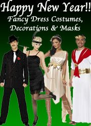 New Year's Eve costumes, masks & decorations