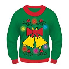 Forum Novelties Light-Up Ugly Christmas Sweater  affiliates Pull De Noel  Lumineux, Pull 4cd5eec621c2