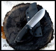 Rasp Bushcraft Survival Camp Knife.  JRs Survival&Bushcraft Knives..