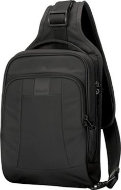 Pacsafe Metrosafe 7 Liter Anti Theft Sling Backpack - Fits 7 inch Tablet with RFID Blocking Pocket and Lockable Zippers for Women and Men (Black) * More info could be found at the image url. (This is an affiliate link) Travel Backpack, Black Backpack, Sling Backpack, Sling Bags, Laptop Backpack, Anti Theft Backpack, 54 Kg, Travel Accessories, Fashion Accessories