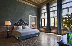 Villa F, Venice, Italy This palazzo on the lovely and tranquil Giudecca, once owned by a number of Venetian noble families, has been completely restored and converted into 11 luxury apartment/suite residences for private accomodations with all the services of a 5 star hotel.