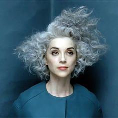 St. Vincent's hair lately is absolutely inspirational for HALLOWEEN AMIRIGHT?Alyssa--challenge accepted.