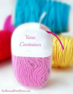 Recycled Tic Tac Containers to Yarn Containers - DIY