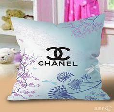 Chanel art vector logo blue Pillow Cases