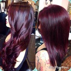 New Hair Color Plum Red Eyebrows 20 Ideas Hair Color Purple, Cool Hair Color, Hair Colors, Color Red, Colour, Pelo Color Berenjena, Balayage Hair, Ombre Hair, Pelo Color Vino