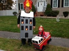 Sound The Alarms !!  It's a Firefighter Family Costume Affair... Coolest Halloween Costume Contest