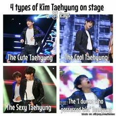 Types of Taehyung on stage | allkpop Meme Center