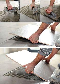 Le remplacement d'un carreau pour une pose carrelage sur carrelage