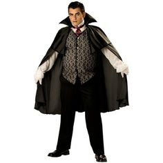 Midnight Vampire Men's Costume Adult Halloween Outfit - Size XXL, Chest 50-52 & Waist 46-48: Clothing http://www.worldofadultcostumes.com/Male-Costumes.html