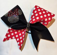Rhinestone Minnie Mouse Cheer Bow customizable for Worlds  Summit by aboutthebow on Etsy