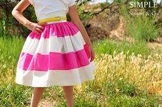 Simple Simon & Company: Vintagely Modern Skirt for Summer - a child's skirt, but I'd like one, too.