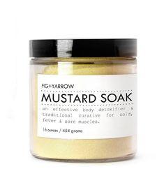 MUSTARD SOAK  detox bath  cold flu sinus by FIGandYARROW - To ease the ache of fibro perhaps?