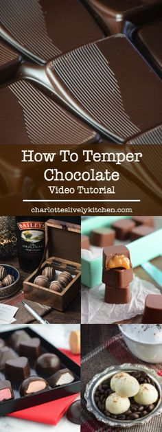 How to temper chocolate - video tutorial.                                                                                                                                                                                 More