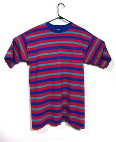 f427a9ce8de5 M vintage Lands End t-shirt 90s striped t-shirt extra long Long Tee