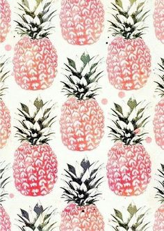 Imagem de pineapple, pink, and wallpaper