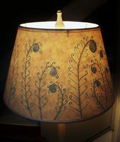 Awesome Lampshade.  Painting appears when Light is Lit.