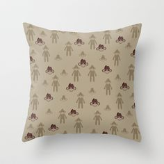 Little Sock Monkeys Throw Pillow by Pen Creations - $20.00
