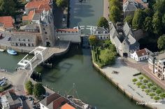 Zierikzee, the Netherlands. Very pretty town in the beautiful province of Zeeland Holland Netherlands, Travel Netherlands, Places Worth Visiting, City Landscape, Medieval Town, Birds Eye View, Vacation Destinations, Day Trips, Bridges