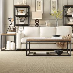 Create an aura of industrial chic in your living room when you choose this rustic occasional table from Tribecca Home. This spacious table has plenty of space for your favorite coffee table books, a v...