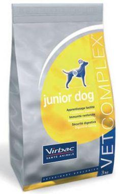 Pienso para perros Virbac Vet complex junior dog. Pienso para perros: Pienso para perros Virbac Vet complex junior dog. Alimento / Comida para perros indicada para cachorros y perros jovenes de todas las razas y tamaños. Ingrediente principal: Carne de ave. En Petclic ahorras mas de un 35% en todas tus compras de piensos y alimentación para perros Todas las garantías. Toda la seguridad que necesitas y mas de 5.000 productos de alimentación rebajados. www.petclic.es