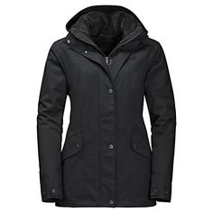 Jack Wolfskin Womens Park Avenue Jacket Black Medium >>> Continue to the product at the image link. (This is an affiliate link)