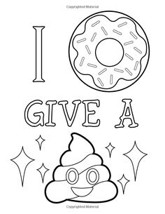 coloring pages - Emoji Coloring Book of Funny Stuff, Cute Faces and Inspirational Quotes 30 Awesome Designs for Boys, Girls, Teens & Adults Emoji Coloring Pages, Quote Coloring Pages, Printable Adult Coloring Pages, Colouring Pages, Coloring Books, Coloring Sheets, Swear Word Coloring Book, Dibujos Cute, Graffiti Lettering