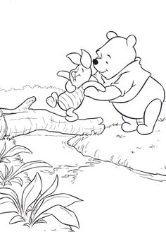 Winnie The Pooh coloring pages -- going to see the movie!