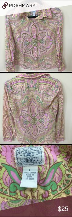 Selling this Lucky Brand Paisley Shirt on Poshmark! My username is: dcgirl04. #shopmycloset #poshmark #fashion #shopping #style #forsale #Lucky Brand #Tops