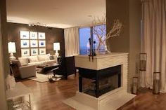 2 sided gas fireplace - Google Search