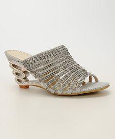 Loving this Silver Rhinestone Sandal on #zulily! #zulilyfinds