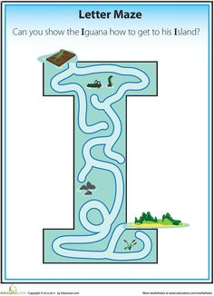 Work your way through these printable alphabet letter mazes with your preschooler to help her learn her ABC's. Printable Alphabet Letters, Alphabet Writing, Alphabet Crafts, Preschool Letters, Letter Activities, Learning The Alphabet, Preschool Worksheets, Literacy Activities, Fun Learning