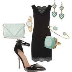 Black lace dress #838