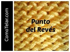 PUNTO REVES en Telar Circular - Loom Knit Purl Stitch in Spanish - YouTube