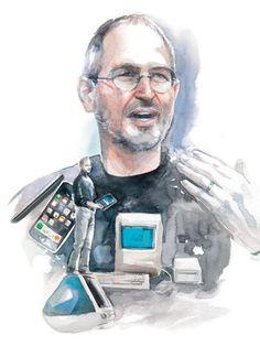 Recordando a Steve Jobs: 40 ilustraciones impresionantes :: Remembering Steve Jobs: 40 stunning illustrations.