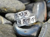 Runners Ring Hand Stamped Aluminum