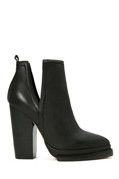 Jeffrey Campbell Who's Next Leather Boot - Booties