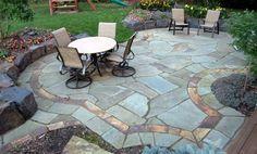 Best Natural Stone Patio Design Ideas Flagstone Patio, Small Backyard Patio GreenScapes Landscaping and . Stone Patio Designs, Design Patio, Exterior Design, Backyard Designs, Backyard Ideas, Garden Design, Hardscape Design, Back Patio, Backyard Patio