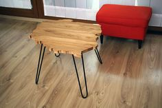 Coffe table in shape of Poland (oak+ oil). Unique Coffee Table, Coffe Table, Coffee Table Design, A Table, Custom Design, Stool, Hairpin Legs, Shapes, Warsaw