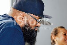 Pacific Island Man and Woman royalty-free stock photo