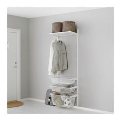 IKEA ALGOT Wall upright/mesh baskets White 65x41x197 cm The parts in the ALGOT series can be combined in many different ways and so can easily be adapted...
