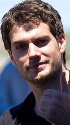 Telling me that his naughty eyebrow is just fine!! Lol!!!  Henry Cavill
