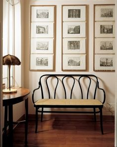 Three hairpins make up the back of the much-loved Michael Thonet Designed S6653/18 Bentwood Settee.