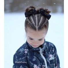 Dutch braids and buns inspired by @prettylittlebraids #dutchbraid #messybun ❄️ Hollantilaisia lettejä ja nutturoita ❄️